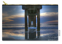 Pier View At Dawn Carry-all Pouch by Myrna Bradshaw
