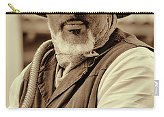Piercing Eyes Of The Cowboy Carry-all Pouch