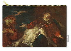Pieta With Mary Magdalene Carry-all Pouch by Giuseppe Bazzani