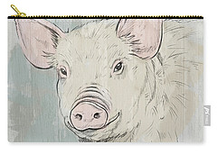 Pig Portrait-farm Animals Carry-all Pouch