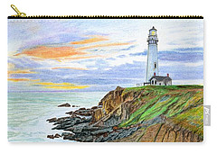Pigeon Point Sunset Carry-all Pouch by Mike Robles