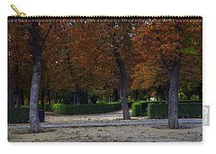 Carry-all Pouch featuring the photograph Pigeons Enjoying View by Madeline Ellis