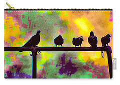 Pigeons In Abstract 2 Carry-all Pouch