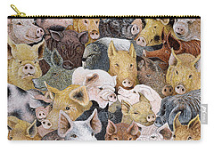 Pigs Galore Carry-all Pouch by Pat Scott