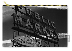 Pikes Place Market Sign Carry-all Pouch by Nick Gustafson