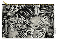 Piles Of Blank Keys In Monochrome Carry-all Pouch