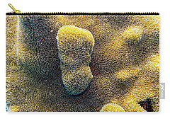 Carry-all Pouch featuring the photograph Pillar Coral by Perla Copernik