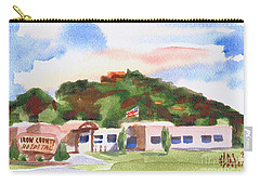 Carry-all Pouch featuring the painting Pilot Knob Mountain W401  by Kip DeVore