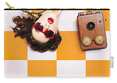Carry-all Pouch featuring the photograph Pin-up Beauty Decision Making On Old Phone by Jorgo Photography - Wall Art Gallery