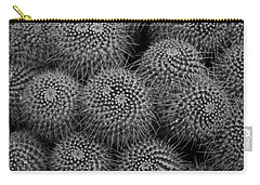 Carry-all Pouch featuring the photograph Pincushion Cactus In Black And White by Michiale Schneider