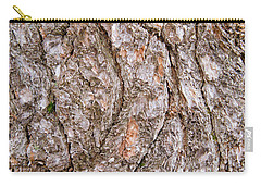 Carry-all Pouch featuring the photograph Pine Bark Abstract by Christina Rollo