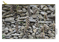 Pine Cone And Stones Carry-all Pouch by Sumit Mehndiratta