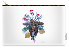 Pine Cone Bouquet Carry-all Pouch by Lise Winne