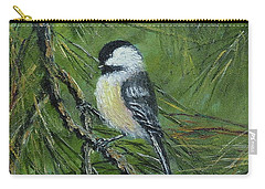 Pine Cone Chickadee Carry-all Pouch