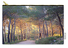 Pine Forest At Sunset Carry-all Pouch