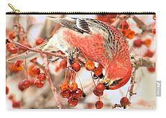Pine Grosbeak Carry-all Pouch