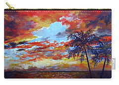 Carry-all Pouch featuring the painting Pine Island Sunset by Lou Ann Bagnall