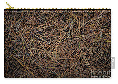 Carry-all Pouch featuring the photograph Pine Needles On Forest Floor by Elena Elisseeva