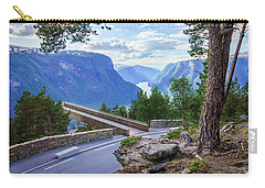 Carry-all Pouch featuring the photograph Pine On Stegastein by Dmytro Korol