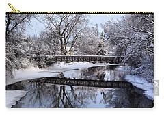Pine River Foot Bridge From Superior In Winter Carry-all Pouch