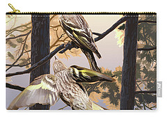 Pine Sisikins Morning Light Carry-all Pouch
