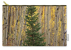 Pine Tree Among Aspens  4874 Carry-all Pouch