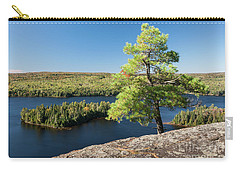 Carry-all Pouch featuring the photograph Pine Tree With A View by Elena Elisseeva