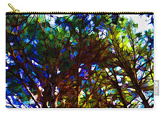 Pine Trees In Abstract 1 Carry-all Pouch