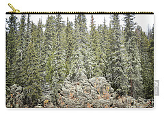 Carry-all Pouch featuring the photograph Pine Trees Rustic Mountain by Andrea Hazel Ihlefeld