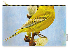 Pine Warbler On Willow Catkin Carry-all Pouch