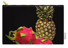 Carry-all Pouch featuring the photograph Pineapple And Dragon Fruit by David French