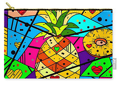 Pineapple Popart By Nico Bielow Carry-all Pouch by Nico Bielow
