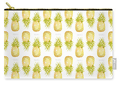 Carry-all Pouch featuring the painting Pineapple Print by Cindy Garber Iverson