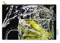 Carry-all Pouch featuring the photograph Pineapple Splash by Ray Shiu
