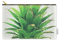 Carry-all Pouch featuring the digital art Pineapple by Taylan Apukovska