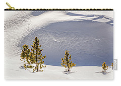 Pines In The Snow Drifts Carry-all Pouch by Stephen Johnson