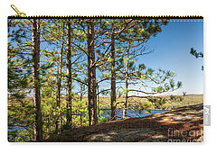 Carry-all Pouch featuring the photograph Pines On Sunny Cliff by Elena Elisseeva