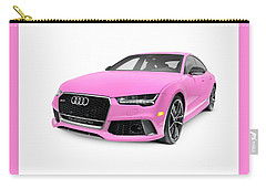 Pink 2016 Audi Rs 7 Prestige Quattro Sedan Luxury Car Carry-all Pouch