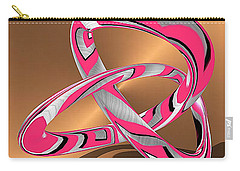 Pink Abstract On Gold Carry-all Pouch