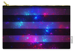 Pink And Blue Striped Galaxy Carry-all Pouch
