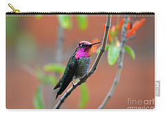 Pink And Gold Anna's Hummingbird Carry-all Pouch