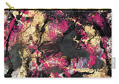 Pink And Gold Merge Carry-all Pouch