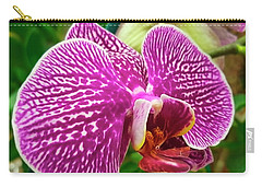 Pink And Green Orchid Floral Garden 957 Carry-all Pouch