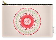 Pink And Green Mandala Fractal 001 Carry-all Pouch