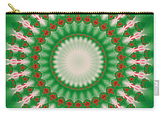 Pink And Green Mandala Fractal 005 Carry-all Pouch