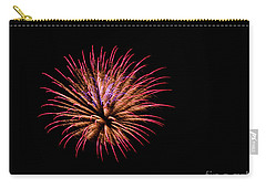 Pink And Orange Fireworks Carry-all Pouch by Suzanne Luft