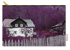 Carry-all Pouch featuring the photograph Pink And Purple Enchanted Cottage by Brooke T Ryan