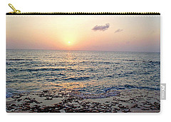 Carry-all Pouch featuring the photograph Pink And Purple Sunset Over Grand Cayman by Amy McDaniel