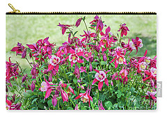 Carry-all Pouch featuring the photograph Pink And White Columbine by Sue Smith