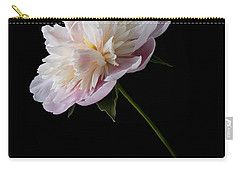 Pink And White Peony Carry-all Pouch